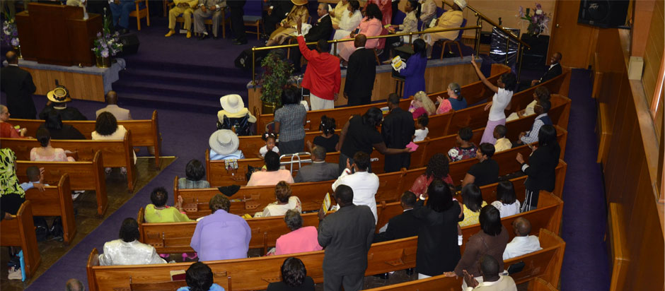 Greater Christ Temple service
